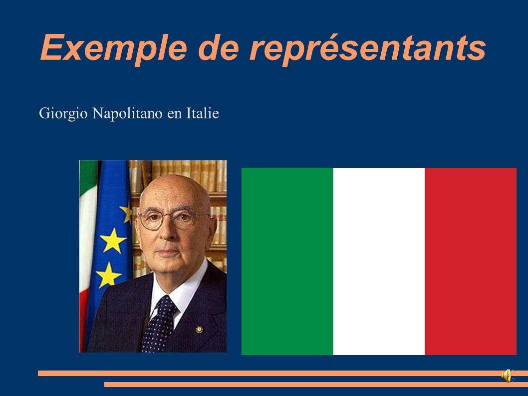 Exemple de représentants Giorgio Napolitano en Italie