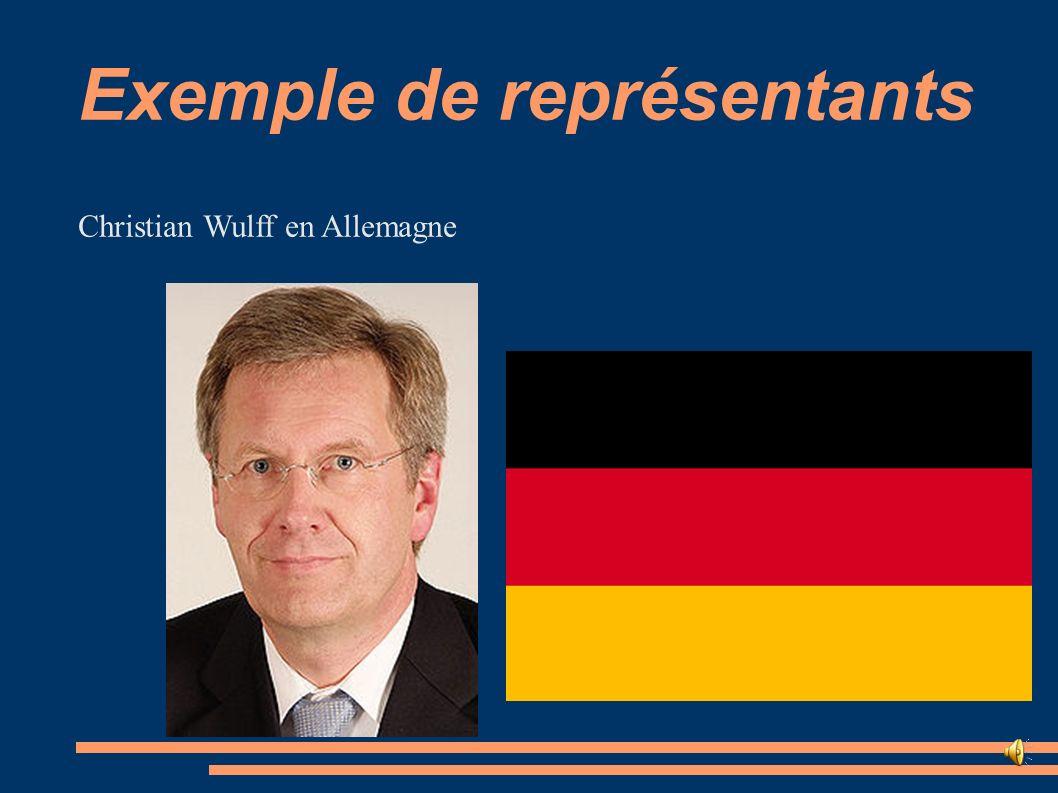 Exemple de représentants Christian Wulff en Allemagne