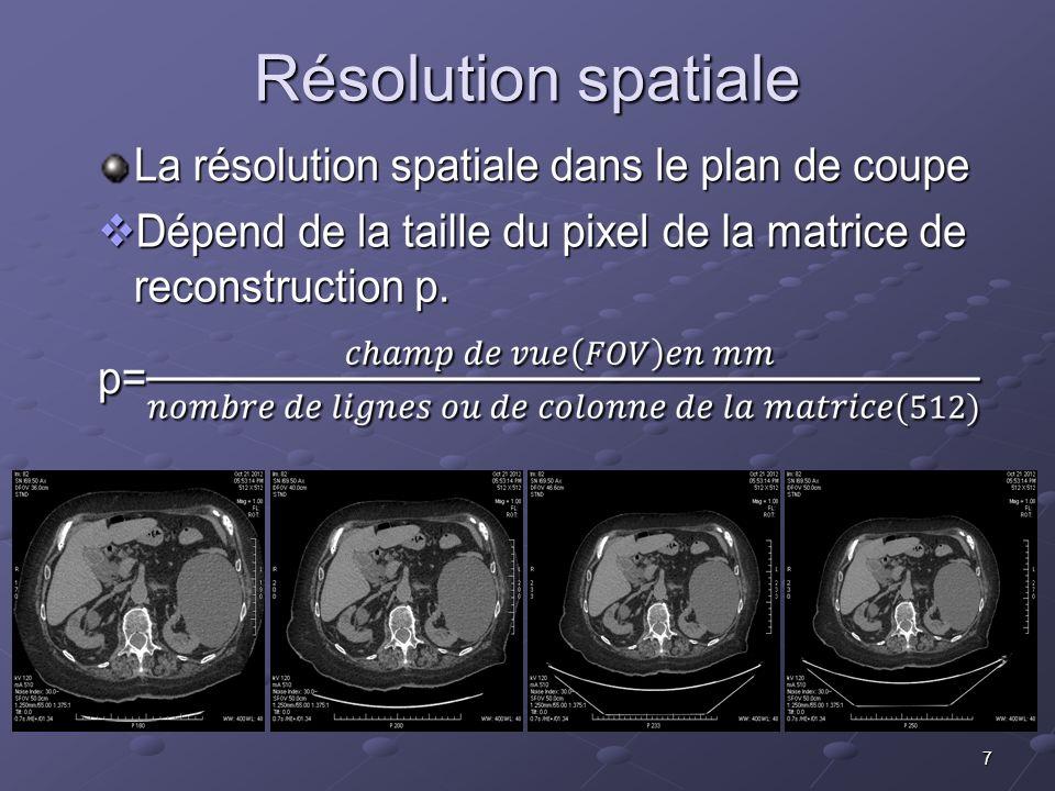 7 Résolution spatiale