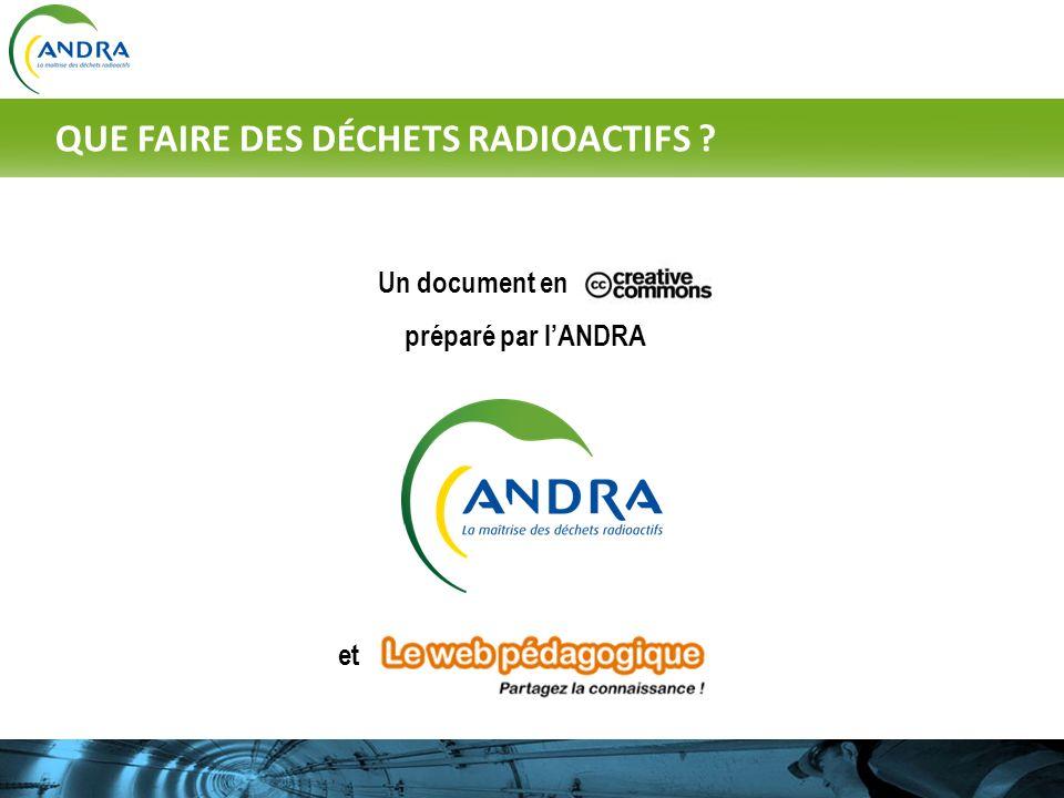 Un document en préparé par lANDRA et QUE FAIRE DES DÉCHETS RADIOACTIFS ?