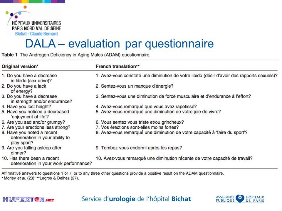DALA – evaluation par questionnaire
