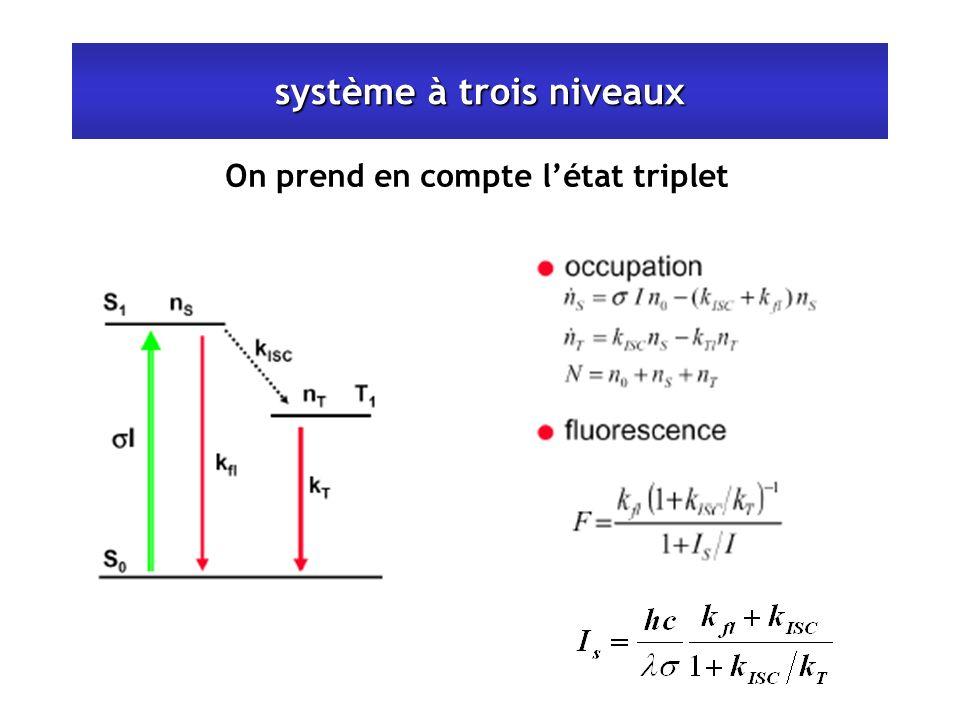 système à trois niveaux On prend en compte létat triplet