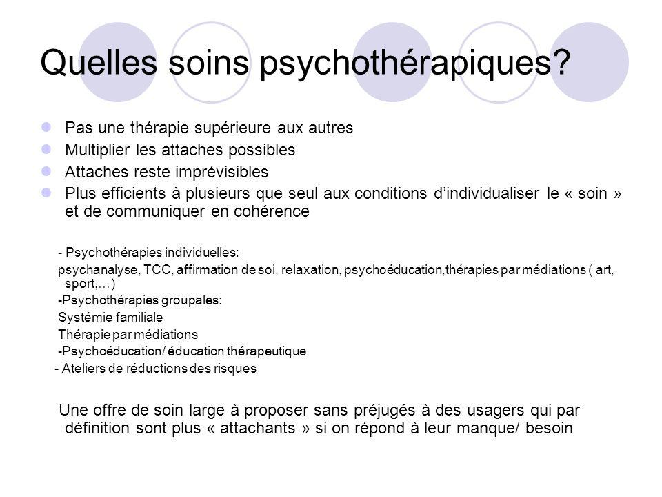 Quelles soins psychothérapiques.
