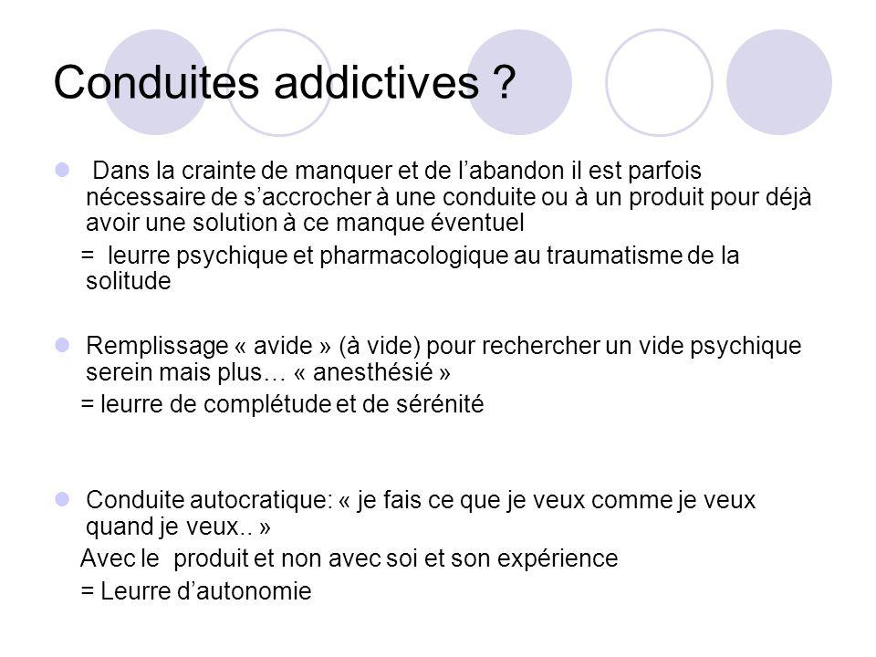 Conduites addictives .