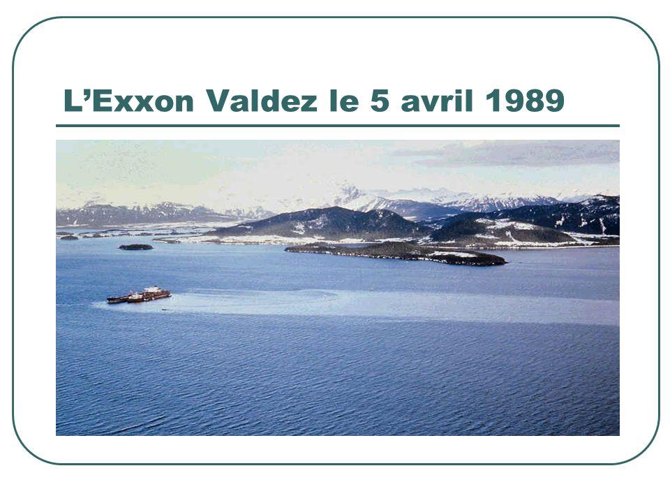LExxon Valdez le 5 avril 1989