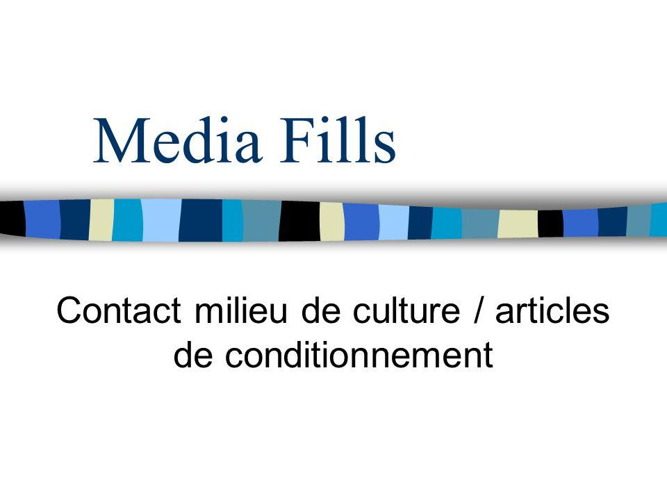 Media Fills Contact milieu de culture / articles de conditionnement
