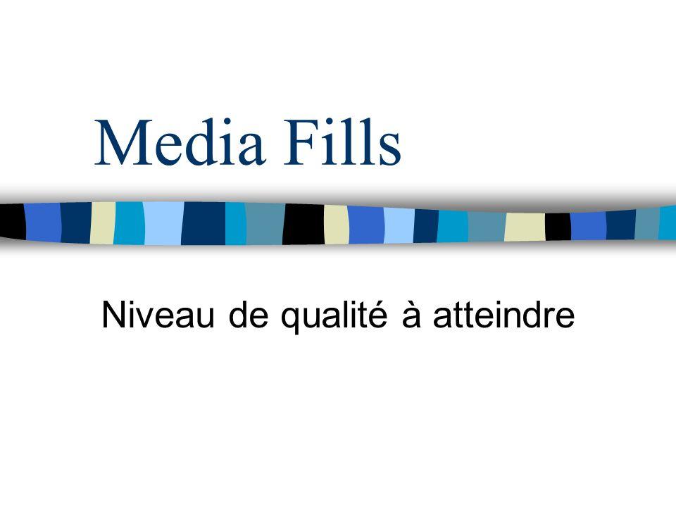 Media Fills Niveau de qualité à atteindre
