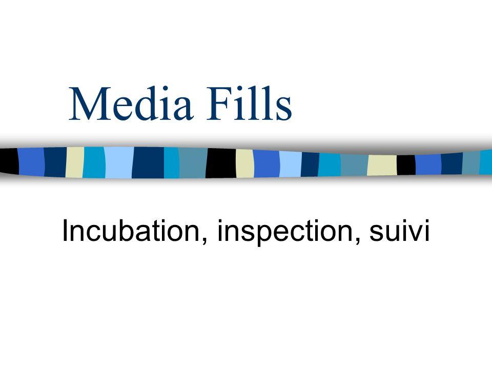 Media Fills Incubation, inspection, suivi