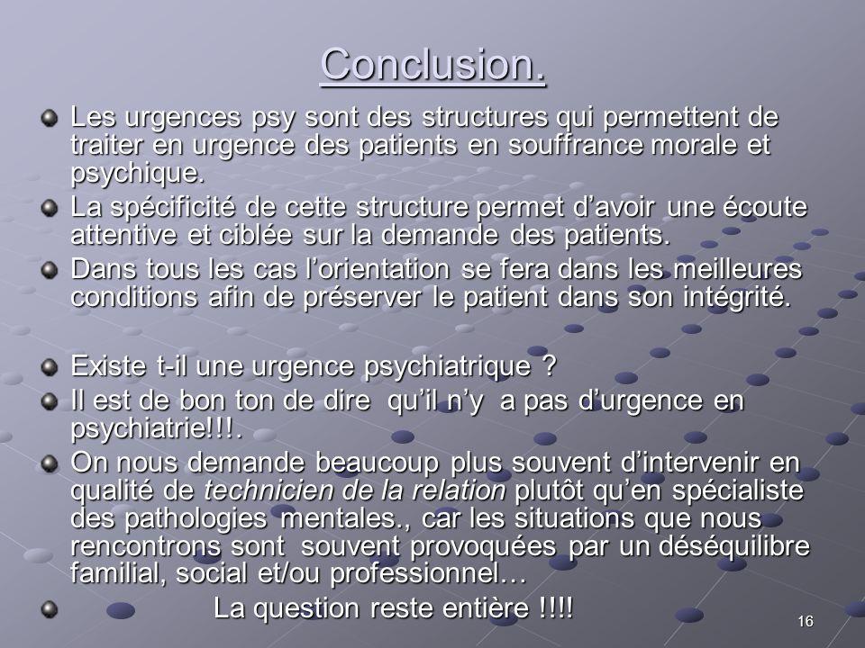 15 Temps de synth è se globale Temps de synth è se globale La consultation /Lhospitalisation. La consultation /Lhospitalisation. Ce n est qu apr è s l