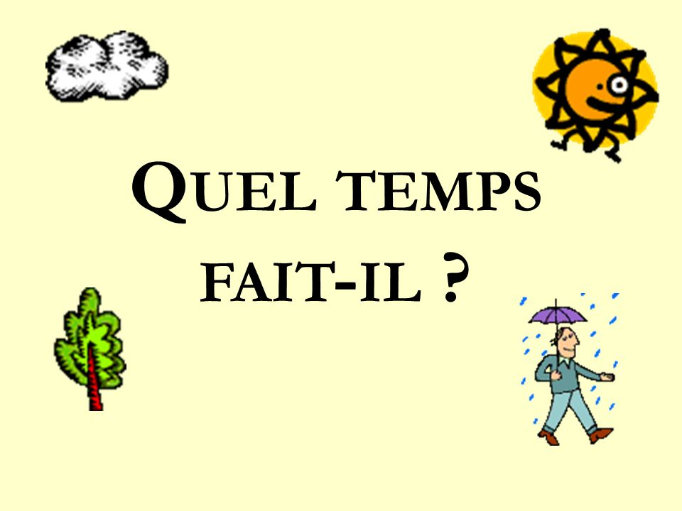 Q UEL TEMPS FAIT - IL ?