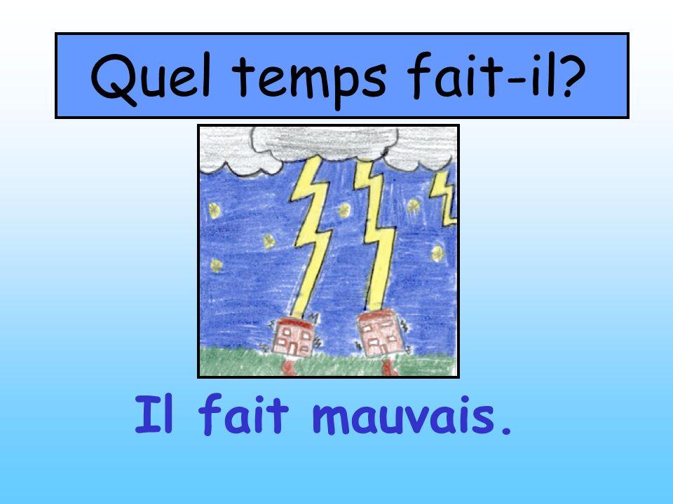 Quel temps fait-il? Il fait mauvais.