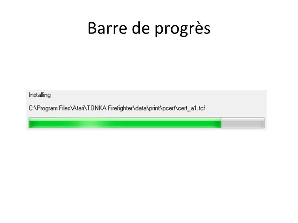 Barre de progrès