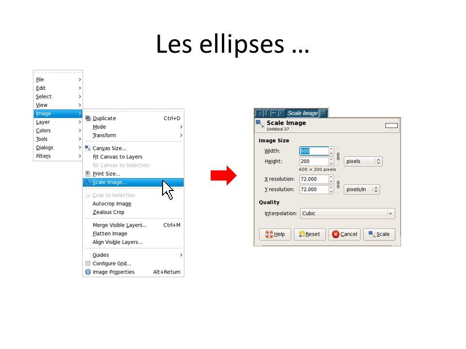 Les ellipses …
