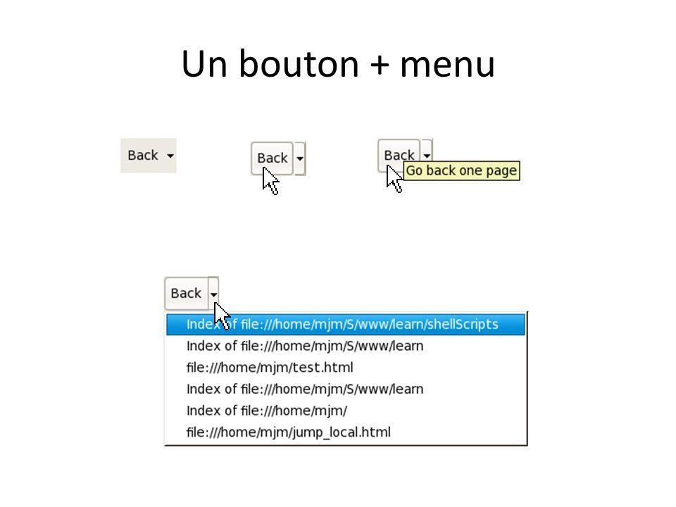 Un bouton + menu