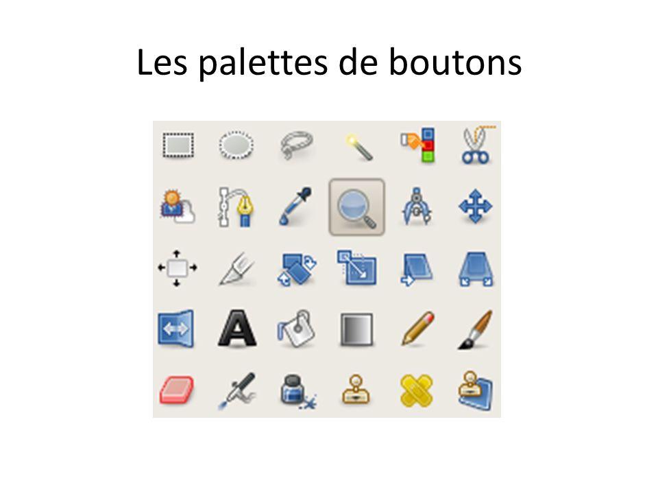 Les palettes de boutons