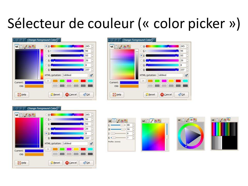 Observations Widgets simples vs widgets composés Widgets composés: – Un enfant vs plusieurs enfants – Contenu fixe vs contenu variable