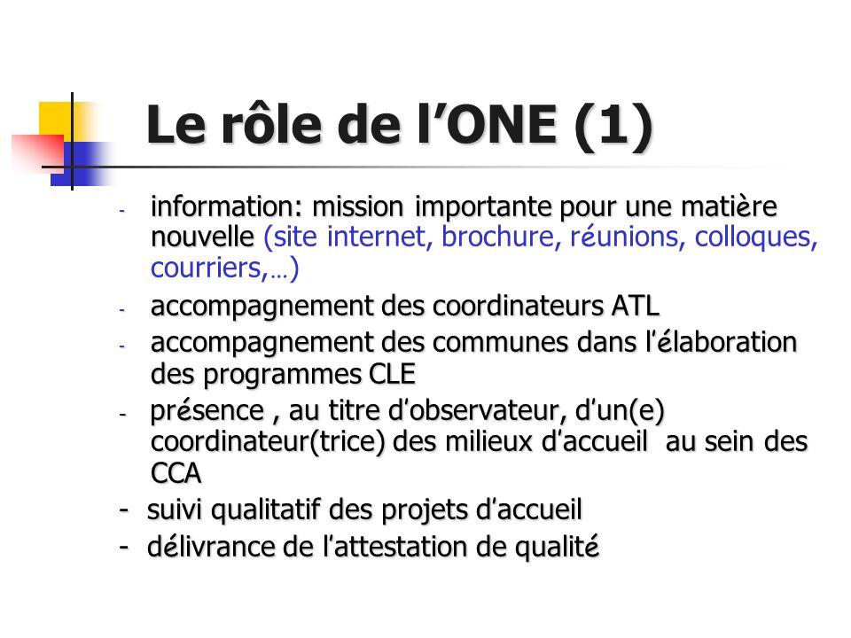 Le rôle de lONE (1) Le rôle de lONE (1) - information: mission importante pour une mati è re nouvelle - information: mission importante pour une mati