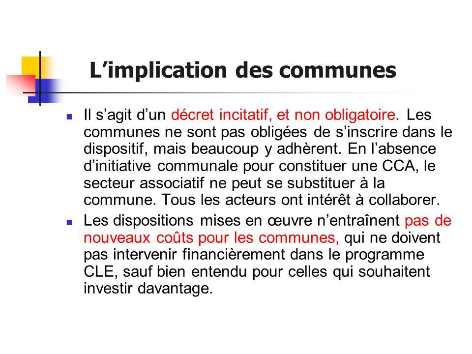 Contenu du programme CLE (1) 1.