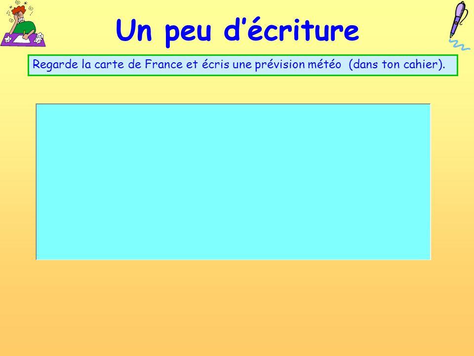 un peu de lecture Bonjour! Je mappelle Luc.jai douze ans et jhabite à Paris. Aujourdhui à Paris il fait beau mais il y a quelques nuages. La températu