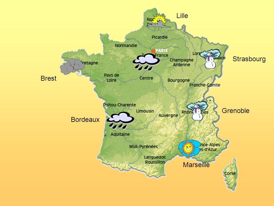 Un peu décriture Regarde la carte de France et écris une prévision météo (dans ton cahier).
