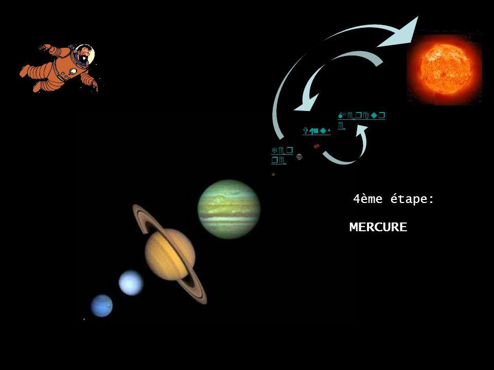 Vénus Ter re MERCURE Mercur e 4ème étape: