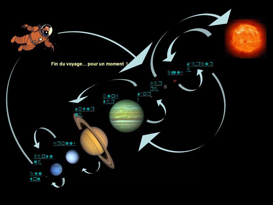 Mercur e Vénus Ter re Jupi ter Uranus Satur ne Neptu ne Plu ton Mar s Fin du voyage… pour un moment !