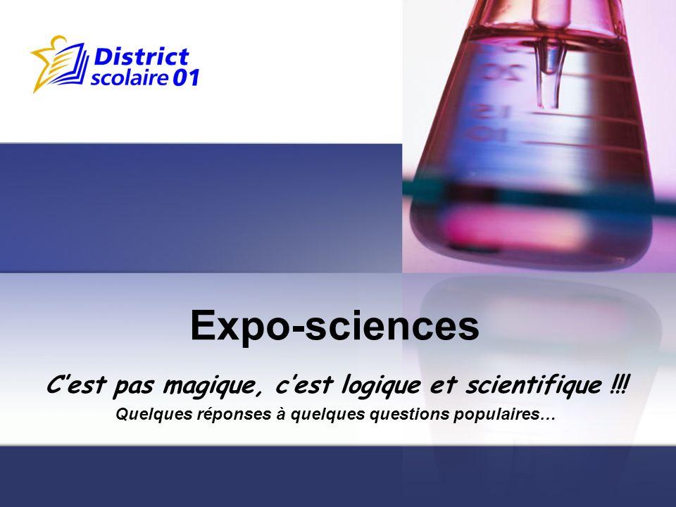 Reportage de lExpo-sciences 2007 http://www.exposciencesbell.qc.ca/fr/videos/ 2007-video.html http://www.exposciencesbell.qc.ca/fr/videos/ 2007-video.html