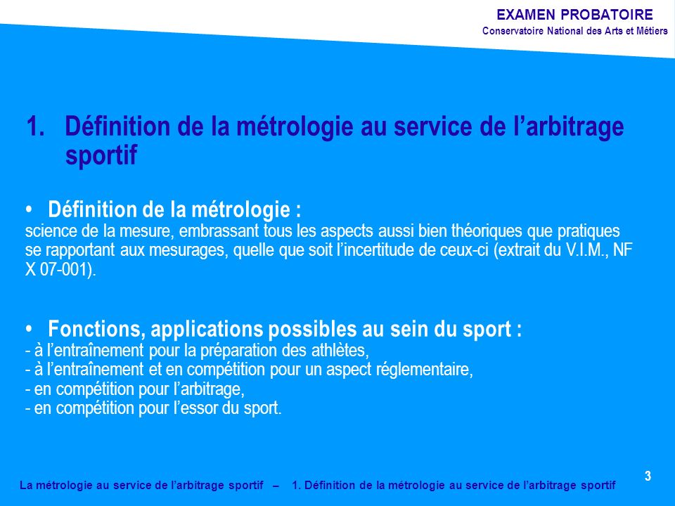 La métrologie au service de larbitrage sportif – 1.