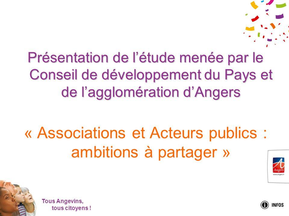 Tous Angevins, tous citoyens ! Présentation de létude menée par le Conseil de développement du Pays et de lagglomération dAngers « Associations et Act
