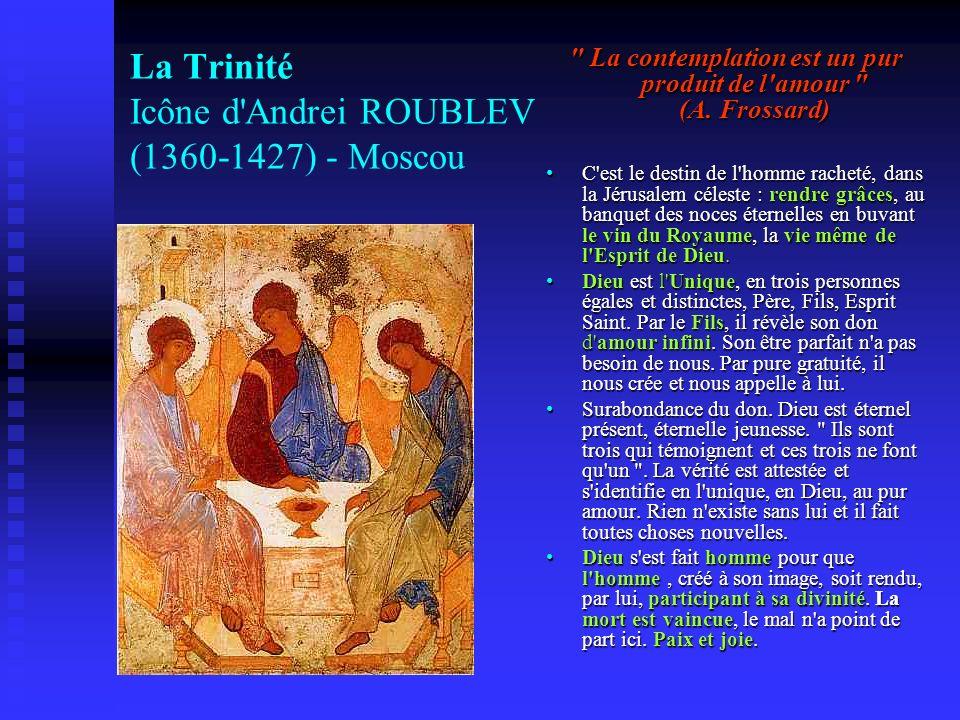 La Trinité Icône d'Andrei ROUBLEV (1360-1427) - Moscou