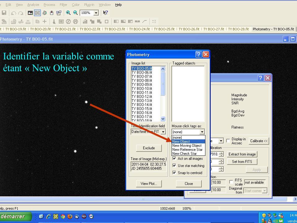 Identifier la variable comme étant « New Object »