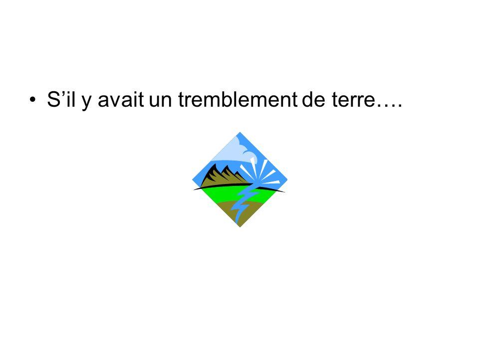 Sil y avait un tremblement de terre….