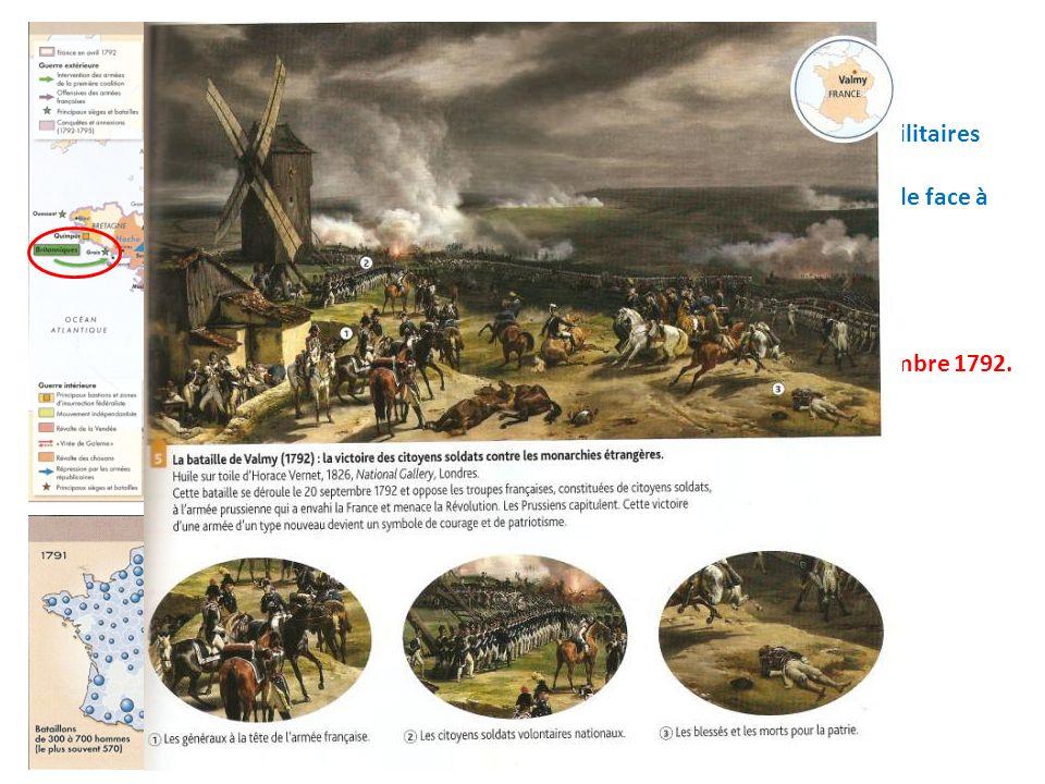 La victoire de Valmy le 20 septembre 1792. Quels sont ces événements militaires décrits par Talleyrand ? Comment la République fait-elle face à cette