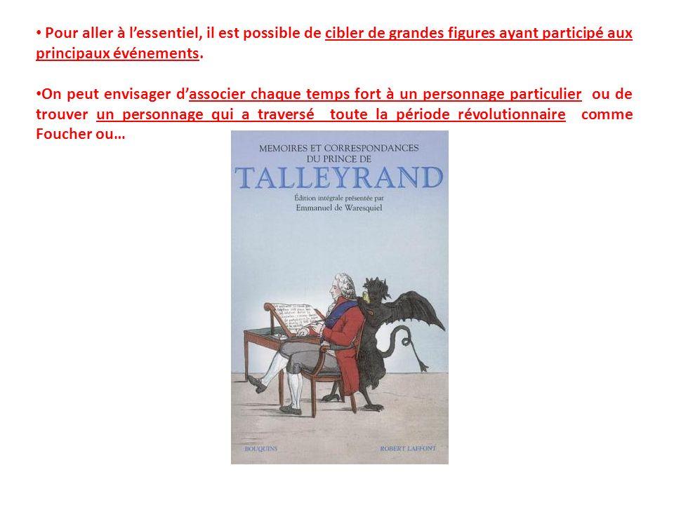 Extraits des Mémoires de Talleyrand : « On songe alors à arrêter par la force le mouvement quon a pas su prévoir et linstrument de la force échappe aux mains qui veulent lemployer.