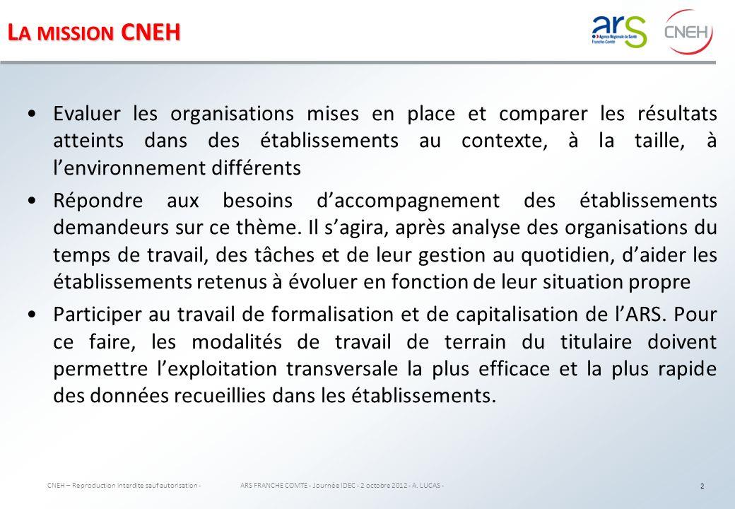 L ES PHASES DE L ÉTUDE CNEH – Reproduction interdite sauf autorisation - ARS FRANCHE COMTE - Journée IDEC - 2 octobre 2012 - A.