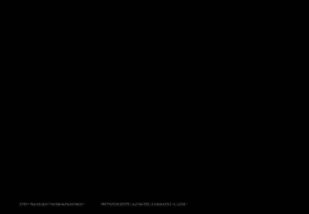 CNEH – Reproduction interdite sauf autorisation - ARS FRANCHE COMTE - Journée IDEC - 2 octobre 2012 - A. LUCAS - 32