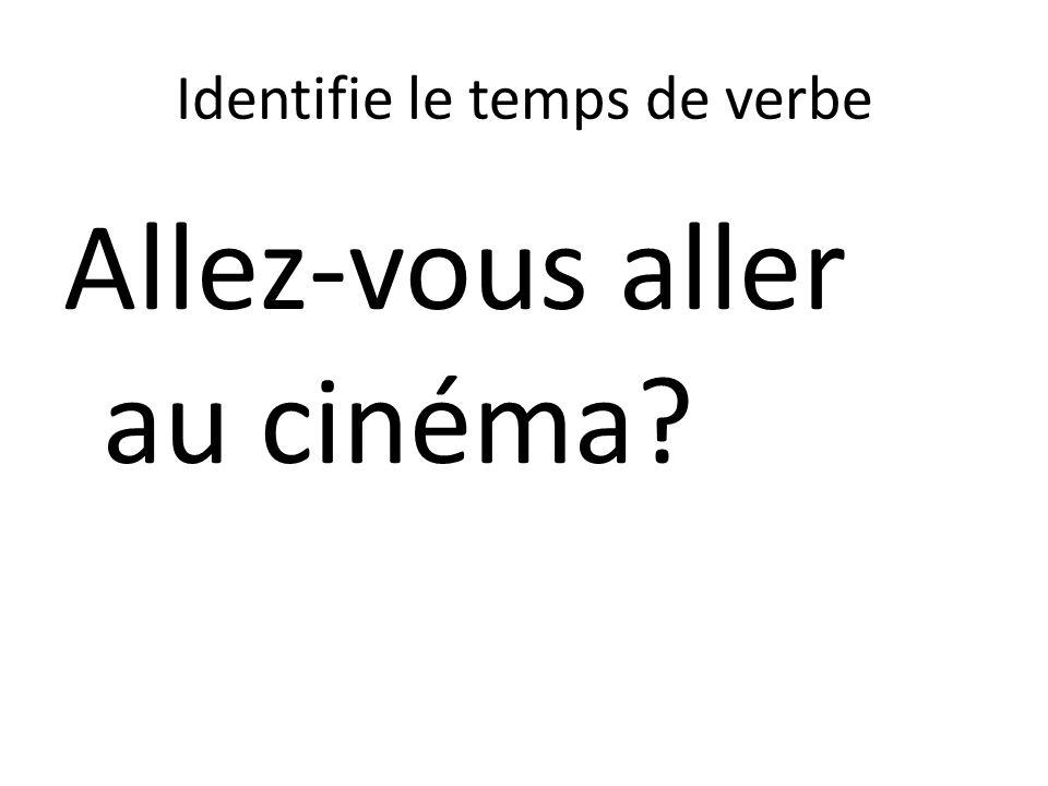 Identifie le temps de verbe Allez-vous aller au cinéma?