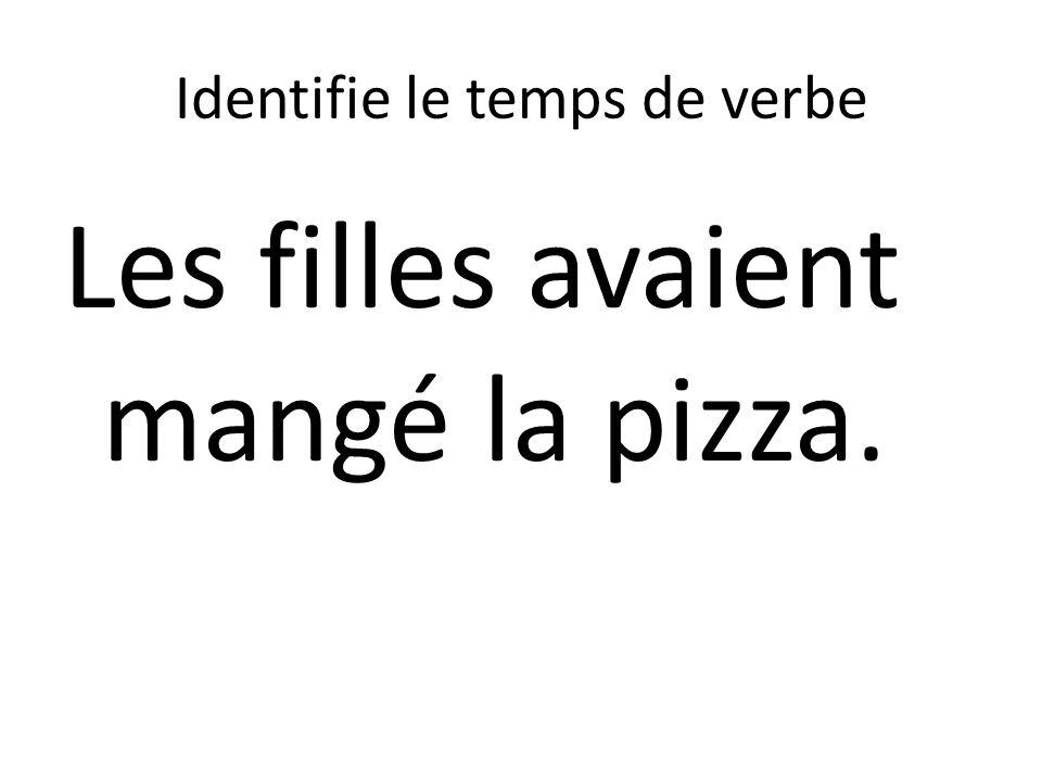 Identifie le temps de verbe Les filles avaient mangé la pizza.