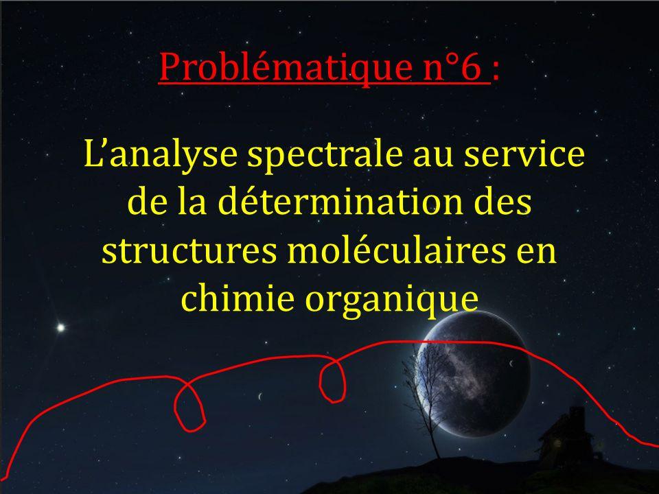 Problématique n°6 : Lanalyse spectrale au service de la détermination des structures moléculaires en chimie organique