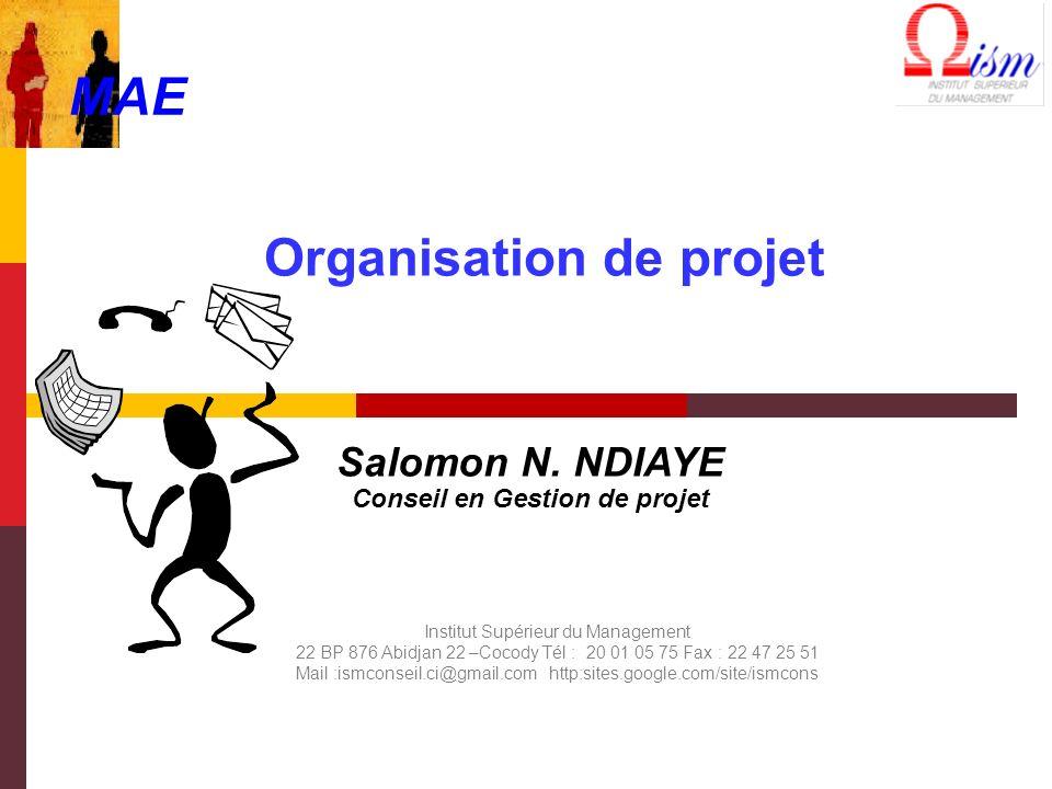 Organisation de projet Salomon N.
