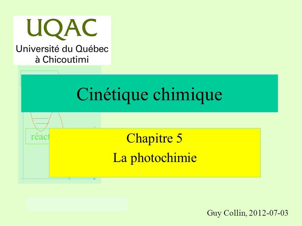 réactifs produits énergie temps Chloration du chloroforme n CCl 4 + Cl 2 Propagation CCl 4 Rupture + Cl Cl Amorçage 1/2 Cl 2 + h CCl 3 + CHCl 3 HCl
