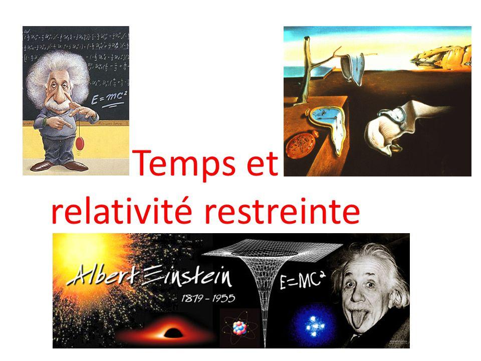 Temps et relativité restreinte