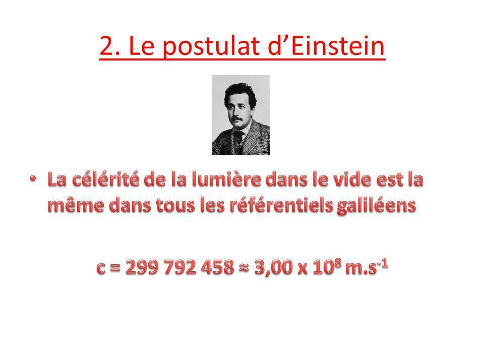 2. Le postulat dEinstein