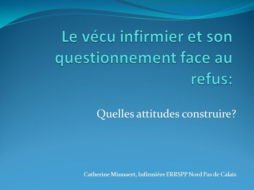 Quelles attitudes construire? Catherine Minnaert, Infirmière ERRSPP Nord Pas de Calais