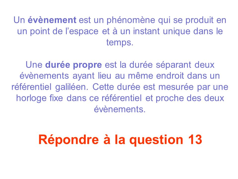 Répondre à la question 12