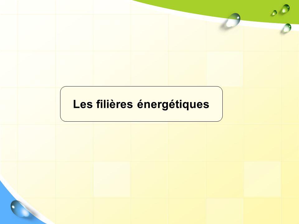 Les filières énergétiques