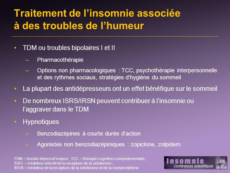 Les troubles anxieux liés à linsomnie : ESPT ESPT = état de stress post-traumatique 1.Klein E et coll.