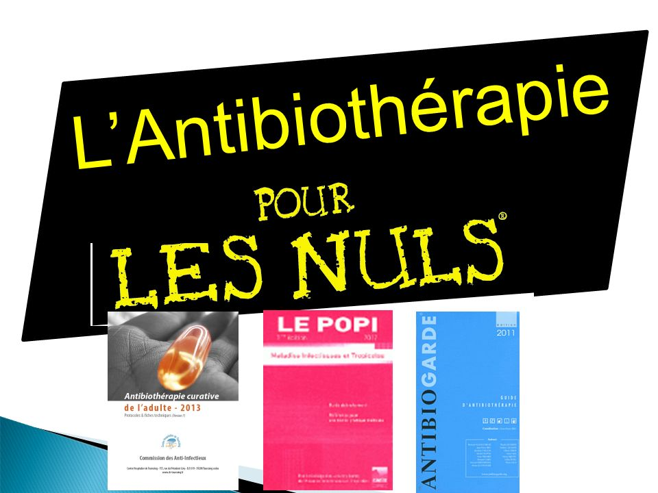 LAntibiothérapie