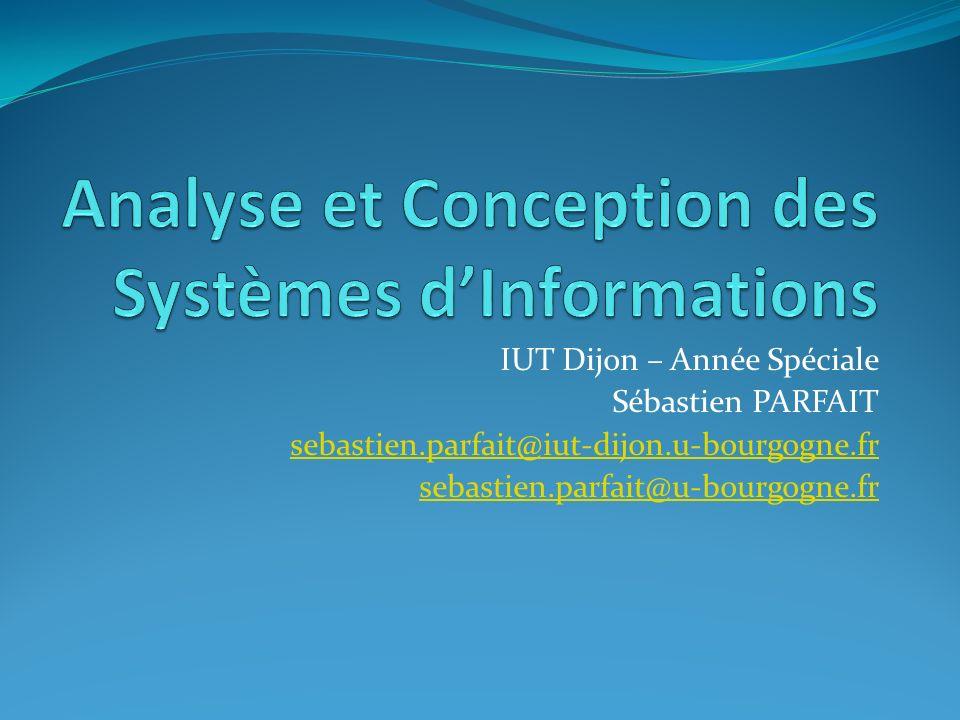 IUT Dijon – Année Spéciale Sébastien PARFAIT sebastien.parfait@iut-dijon.u-bourgogne.fr sebastien.parfait@u-bourgogne.fr