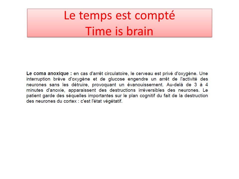 Le temps est compté Time is brain
